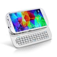 samsung galaxy s5 white case. slide-out wireless backlight bluetooth keyboard case for samsung galaxy s5 g900 - white- white
