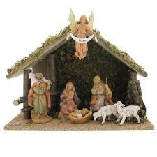 fontanini 7 piece nativity set with italian wood le 5 scale