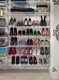image of closet shoe shelves rack