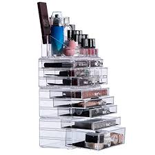 30 off cq acrylic clear acrylic cosmetic makeup storage cube organizer with cosmetic display cases