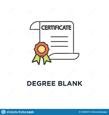 Certificate Outline Degree Blank Icon Certificate Document Diploma Award Or