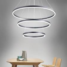 modern 3 ring hanging light 5 tiers circular light chandelier led for room hall mall