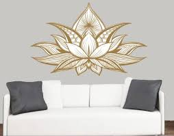 nice lotus wall art home decoration ideas detailed flower design vinyl stickers on metal panel canvas on lotus panel wall art with lotus wall art fallow fo