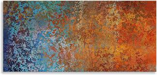 Kunstdruck Auf Leinwand Abstrakte Kunst Blau Wandbild Wandbild