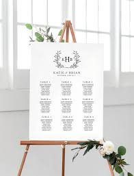 Wedding Seating Chart Ideas Templates Wedding Seating Chart Table Plan Instant Download