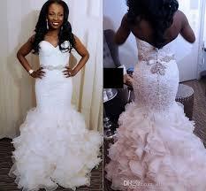 Wedding Dress Plus Size Chart Sweetheart Mermaid Wedding Dress Ruffles Tiered Bride Dress Plus Size Wedding Gown African Black Girl Wedding Dress