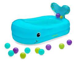 infantino whale bubble bath inflatable bath tub
