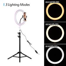 Ring Light For Phone Amazon Andoer 26cm 10 Inch Led Ring Light With Light Stand Universal Phone Holder Kit Usb Powered With Wired Remote Control 10 Levels Brightness Day Light