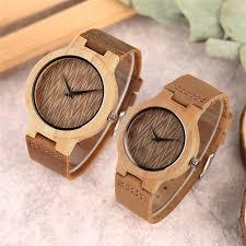 couple watch bamboo wooden wrisch cw445