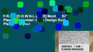 Bill Organizer Classy FREE [DOWNLOAD] Monthly Bill Planner Organizer Cloth