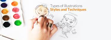 types of ilration styles and techniques