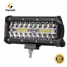 7 Inch 120 W Led Verlichting Bar Combo Beam Auto Rijden Lichten Voor Off Road Truck 4wd 4x4 Uaz Motorfiets Oprit 12 V 24 V Auto Fog Lamp