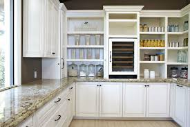 Open Shelves Under An Upper Simple Kitchen Cabinet Shelves Home