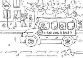 Small Picture Bus Colouring Page