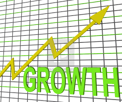 Chart That Shows Growth Graph Chart Shows Increase Sales Profit License