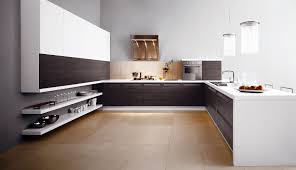 Concrete Floors In Kitchen Modern Simple And Spacious To Use Clean Hardwood Best Kitchen