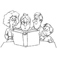 Child Coloring Pages Child Reading Coloring Page Family Coloring
