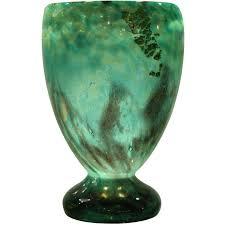 daum art deco glass vase for