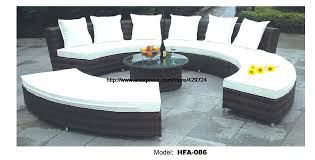 rounded outdoor furniture circular arc sofa half round furniture healthy rattan garden furniture sofa set luxury rounded outdoor furniture circle