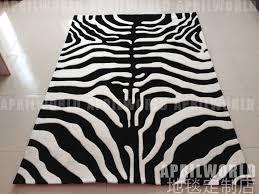 black white zebra print living room rug carpet