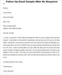Sample Follow Up Email After Interview No Response Allowed Writing