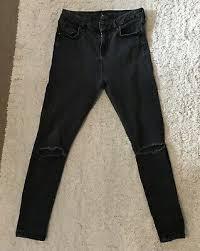 Topshop Joni Jeans Grey High Waist Skinny Size 12 L30
