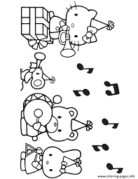 Cool hello kitty coloring pages download and print for free hello kitty free coloring pages for kids free printable coloring pages, connect the dot pages and color by numbers pages for kids. Hello Kitty Party With Music Coloring Pages Printable