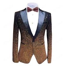 Jacket Design 2019 Aesido New Design Mens Suit Jacket Prom Tuxedos Bling Sequin Formal Dinner Party Blazer For Wedding Gooms 2020 From Jasonstuff 212 22
