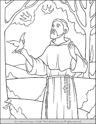 Small Picture Saint Francis Coloring Page