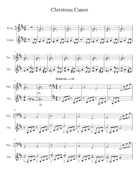 More free sheet music available on fiddlerman.com Christmas Canon By Trans Siberian Orchestra String Method Sheet Music For Piano Violin Solo Musescore Com