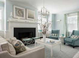 Blue And Beige  Contemporary  Living Room  Milwaukee  By Silver And Blue Living Room