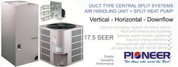 split unit heat pump. Contemporary Unit Inverter Central Split Ducted Heat Pump Systems With Unit S