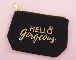 o gorgeous canvas makeup bag larger photo