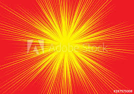 Radial Red Abstract Radial Red Line Zoom Speed Light On Yellow For Comic