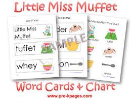 Little Miss Chart Little Miss Muffet Nursery Rhyme Activities