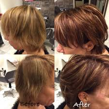 Herfst Kleur Before And After Coupe Soleil Met Blond Koper En Bruin