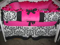 hot pink and black nursery bedding bedding designs