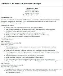 Lab Teaching Assistant Resume Format Maintenance