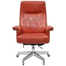 vintage office chairs for sale. Vintage De Sede DS 35 Red Leather \u0026 Chrome Caster Executive Swivel Desk Chair For Sale Office Chairs