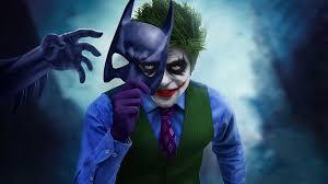 Wallpaper 4k Joker With Batman Mask Off ...
