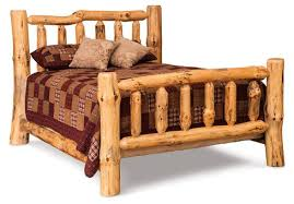 log rustic furniture amish. Queen Bed In Rustic Pine Log Furniture Amish