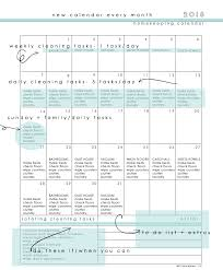 Free Homekeeping Calendar August 2018 Clean Mama