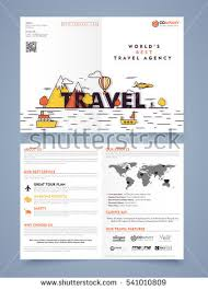 Two Page Brochure Template Two Page Brochure Template Or Flyer Design For Tour And Travel
