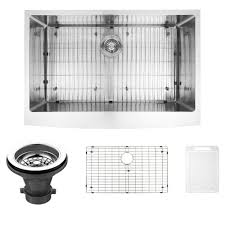 vigo undermount farmhouse a front stainless steel 33 in single bowl kitchen sink with grid