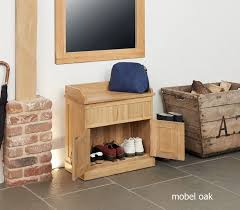 image baumhaus mobel. Image Of The Baumhaus Mobel Oak Shoe Bench With Hidden Storage (COR20C) Shown