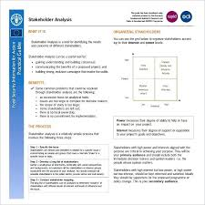 Stakeholder Analysis Template Excel Beautiful Sample Project Resume ...