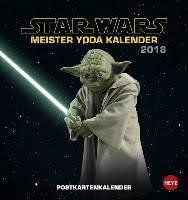 Star Wars Meister Yoda Postkartenkalender 2018