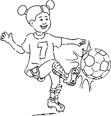 Soccer Coloring Pages Girl Playing Soccer Coloring Pages Free Online