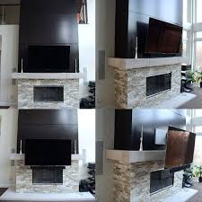tv on fireplace mantel is the premier pull down over the fireplace mount your glare and