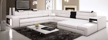 Leather Sectional Couches Amazoncom White Contemporary Italian